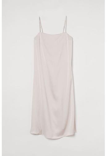 H&M white Satin Slip Dress B7292AAAFA8E83GS_1