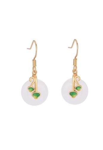 Kings Collection gold Imitation Jade Earrings (KJEA20096) 79955ACFCB69B7GS_1
