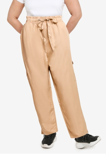Only CARMAKOMA beige Plus Size Stello Utility Pants 3E664AAF31593EGS_1