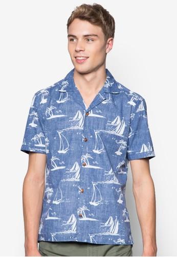 印esprit hong kong花短袖休閒襯衫, 服飾, 印花襯衫