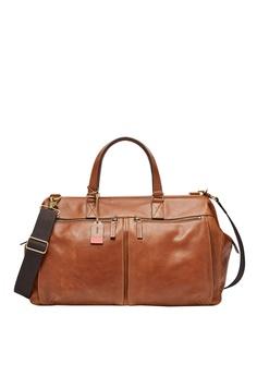 8e902350764 Fossil brown Defender Duffle Cognac Bag DE299ACAF4D2A0GS 1