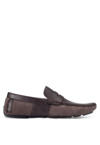 UniqTee brown Slip-On Driving Loafers UN097SH0RFVRMY_1