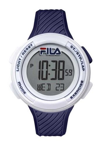 FILA Watches blue Fila Digital White and Blue Rubber Watch EA229AC15E8C8CGS_1