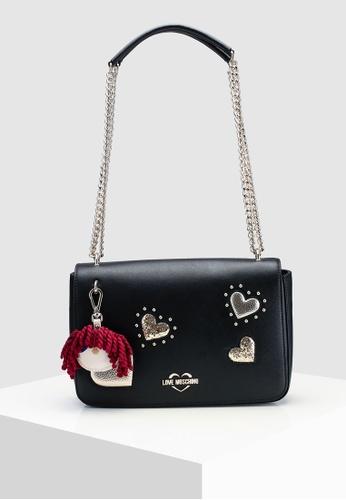 Love Moschino black Textured Grain Shoulder Bag EADBFAC07A554AGS 1. CLICK TO  ZOOM 6a59df24188b9