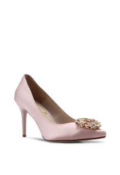 8bc403cafd Pineapple Outfitter Bejewelled Satin Pump Heels RM 469.00. Available in  several sizes · Dorothy Perkins gold Gold Shimmer Block Heel  8414FSHE848C21GS_1
