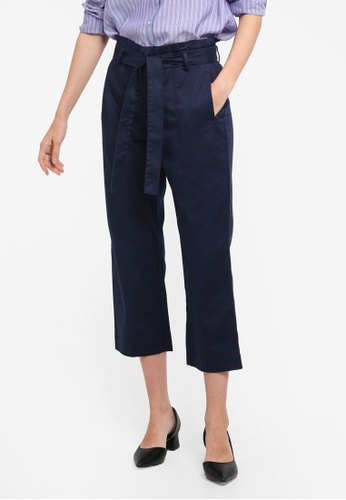 ESPRIT navy Woven Cropped Pants C666AAA44240B6GS_1