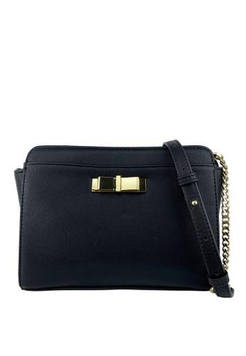 Mel&Co black Faux Leather Sling Bag 83901ACA01969FGS_1