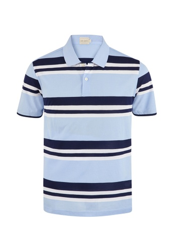 Gay Giano 海軍藍色 條紋POLO衫 E3923AA7FA3D10GS_1