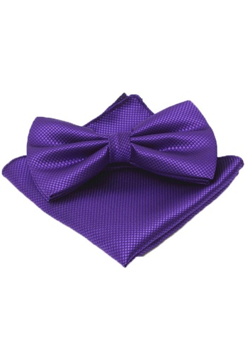 The Little Link Cufflinks purple Hunter Bowtie and Pocket Square Box Set TH089AC0G4YISG_1