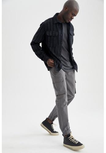 DeFacto grey Slim Cargo Trousers 14949AAD59DD5FGS_1