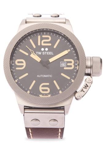 TW Steel brown CS35 Canteen Strap Analog Watch TW310AC0KMBVPH_1