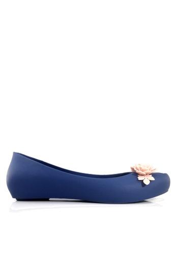 Twenty Eight Shoes blue 3D Flora Hidden Heel Jelly Rain Shoes VR379 D31B3SHE448DB4GS_1