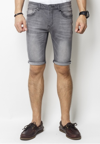 2nd Edition grey Mid Washed Grey Denim Shorts 62B1AAA15548D5GS_1