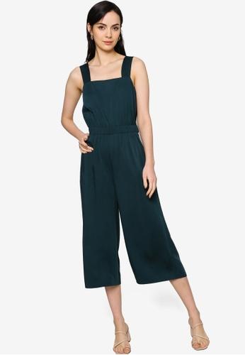 Origin by Zalora blue Culotte Jumpsuit made from TENCEL™ 96BBAAA008A27CGS_1