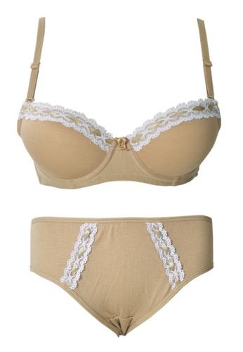 Cynthia brown Cynthia-Pastel Bra with matching panty-Brown CY646US62SONID_1