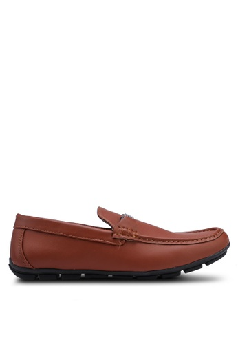 Rocklander brown Faux Leather Loafer BF3E3SH1C51747GS_1