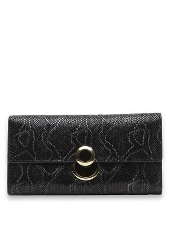 PIERRE CARDIN Pierre Cardin Jolanda Long V Wallet - Black PI436AC12JITID_1