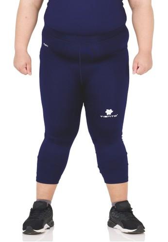 Tiento navy Tiento Man Compression Big Size  3/4 Pants Navy Celana Lejing Jumbo Sebetis Pria Olahraga Lari Sepakbola Renang Fitness Futsal 31CFFAA98A6766GS_1