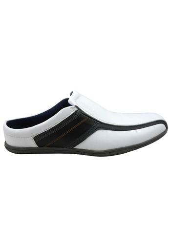 midzone white SCORPION Leather Slip On FF639SHC9BE141GS_1