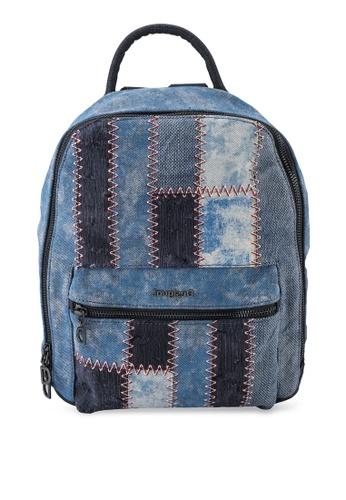 Desigual blue Patch Denim Backpack 0C3F0ACB04D674GS_1