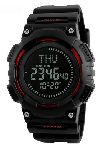 Digitec black Skmei Compass Watch - Jam Tangan Pria - Black Red - Resin Strap - 1259-D 7F715AC310C730GS_1