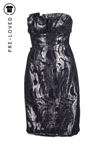 Vivienne Tam black Pre-Loved vivienne tam Black and Mettalic Strapless Dress 6E26FAA9C3F20CGS_1