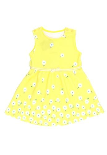 POP Shop yellow Girls' Sleeveless Floral Dress 9D64AKA4B7F282GS_1