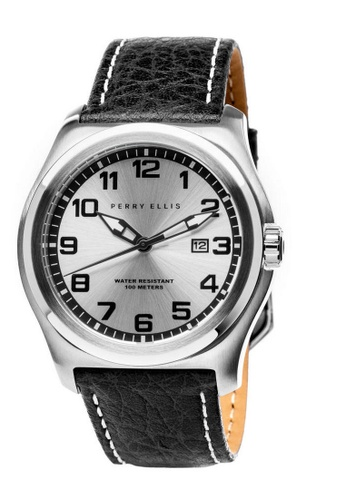 Perry Ellis black Perry Ellis Memphis Men 44mm Quartz Watch 04002-01 363C8AC78821D5GS_1