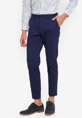 Sisley 藍色 質感長褲 99F74AA6141F2AGS_1