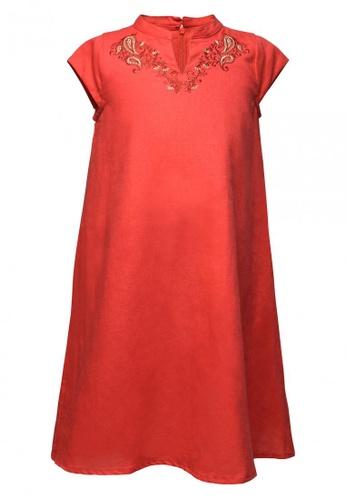 East India Company pink Kimaya Embroidered Cheongsam DE8AAKA6B4D4C2GS_1