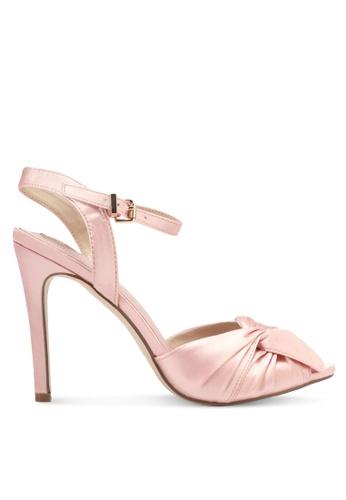 Velvet pink Satin Heels 04E85SH6CDD048GS_1