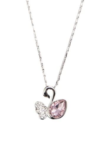 閃esprit 會員鑽寶石天鵝吊墜項鍊, 飾品配件, 飾品配件