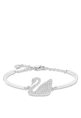 Swarovski Silver Swan Bangle Eef31ac5e79fa7gs 1