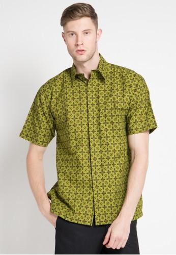 Batik Indra Loka green and multi Short Sleeve Kelir 2BE33AA066ADB9GS_1