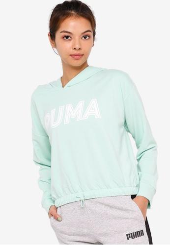 PUMA green Modern Sports Women's Hoodie 026A4AA760A5F4GS_1