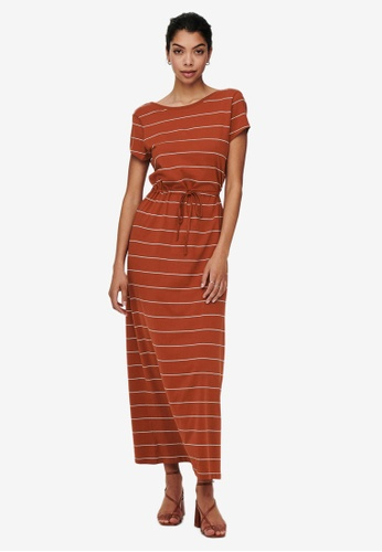 ONLY brown May String Maxi Dress E4FFDAABD283D8GS_1