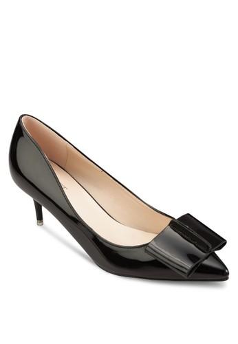 Eva 蝴蝶結尖頭低跟鞋, 女鞋esprit outlet台北, 厚底高跟鞋