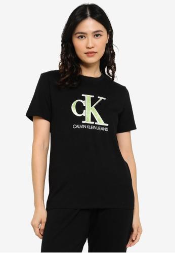 CALVIN KLEIN black Seasonal Mono Tee - CK Jeans 319A3AAF353BEEGS_1