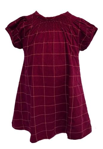 Era Maya red Checkered Soft Cotton Dress DE94AKA33E4F0EGS_1