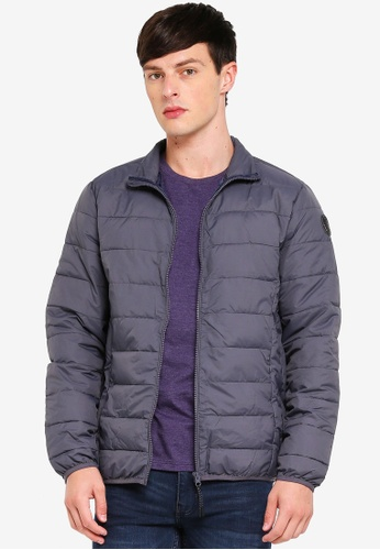 Burton Menswear London 灰色 高領外套 B2D0CAAF00EB46GS_1