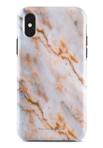 Polar Polar brown Coffee Cream Dual-Layer Tough Case Glossy For iPhone X / XS 3EE08AC344214FGS_1