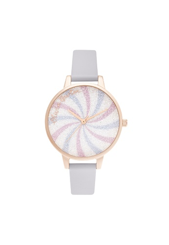 Olivia Burton 紫色 Olivia Burton Candy Shop Parma Violet Leather Women's Watch (OB16CD03) 68431AC2C70B78GS_1
