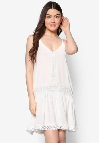 蕾絲細肩帶Azalora 評價 字洋裝, 服飾, 短洋裝