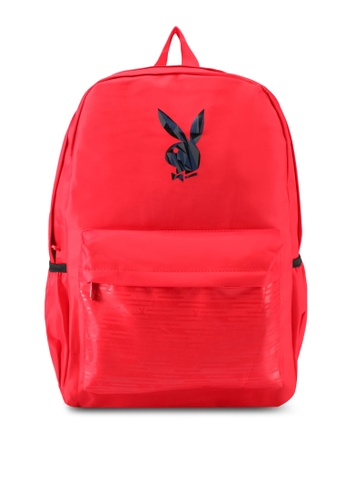Playboy red Playboy Casual Backpack PL371AC0SJYSMY_1