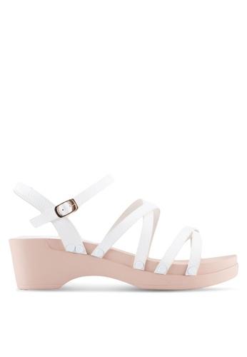 VINCCI white Strappy Sandals 54454SH96A7410GS_1