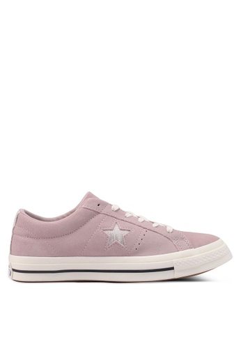 f63b582cb88269 Converse pink One Star Suede and Previous Metallic Logo Ox Sneakers  4F07BSHAB97CD3GS 1