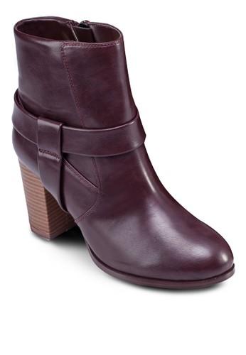 仿皮粗zalora 手錶 評價跟低筒踝靴, 女鞋, 鞋