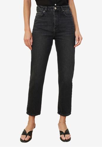 Trendyol black High Waist Slim Fit Jeans B5E0BAA8EA89C6GS_1
