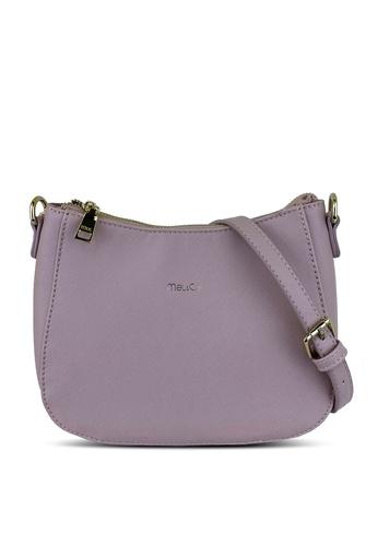 Mel&Co pink Faux Leather Sling Bag 32BAFACA93F798GS_1
