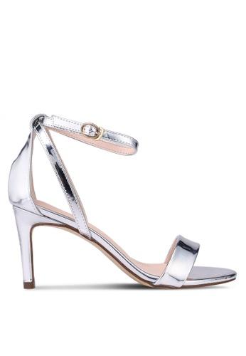 Something Borrowed silver Metallic Ankle Strap Heels 40538SHC447528GS_1